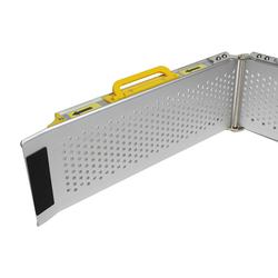 Aluminium oprijplaat inklapbaar - 120 cm rijplaat rijgoot oprijhelling 2