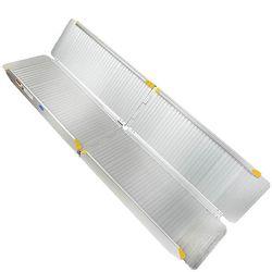 Sterke oprijplaat aluminium - inklapbaar - 180 cm rijplaat oprijgoot 3