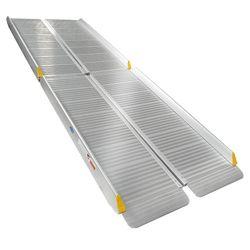 Sterke oprijplaat aluminium - inklapbaar - 180 cm rijplaat oprijgoot 2