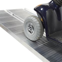 Oprijplaat extra breed - 240 cm rijplaat rijgoot aluminium plaat 5