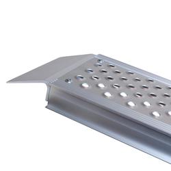 Aluminium oprijplaat compact twee keer inklapbaar - 195 cm - 2 stuks 5