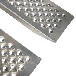 Oprijplaat rijplaat - aluminium - 150 cm rijgoot oprijhelling 5