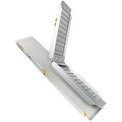 Sterke oprijplaat aluminium - inklapbaar - 180 cm rijplaat oprijgoot 4