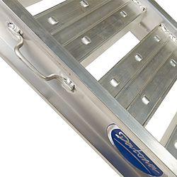 Aluminium oprijplaat - extra sterk 240 cm oprijgoot oprijhelling 3