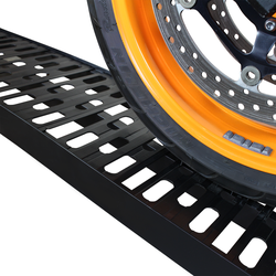 Extra sterke aluminium zwarte oprijplaat opklapbaar - 225 cm rijplaat oprijplank 3