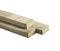 Geïmpregneerde Regel Balk Naaldhout 32 X 6 X 400 Cm Houten Lat