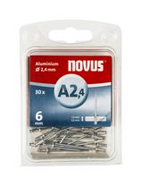 Novus Popnagels A2.4 X 6 mm Alu SB - 30 Stuks