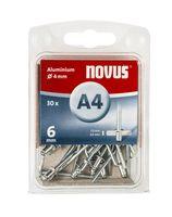 Novus Popnagels A4 X 6 mm Alu SB - 30 Stuks