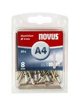 Novus Popnagels A4 X 8 mm Alu SB - 30 Stuks