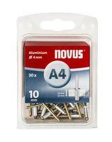 Novus Popnagels A4 X 10 mm Alu SB - 30 Stuks