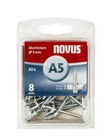 Novus Popnagels A5 X 8 mm Alu SB - 30 Stuks