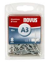 Novus Popnagels A3 X 8 mm Alu SB - 70 Stuks