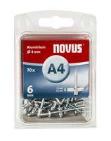 Novus Popnagels A4 X 6 mm Alu SB - 70 Stuks