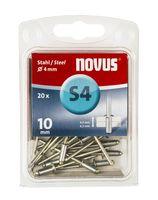 Novus Popnagels S4 X 10 mm Staal S4 - 20 Stuks