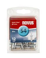 Novus Popnagels S4 X 12 mm Staal S3 - 20 Stuks
