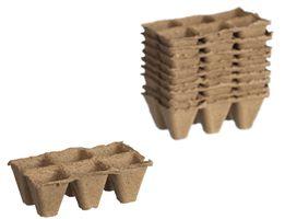 Nature Turfpottrays H5x5x5cm 10 trays - 6 Stuks