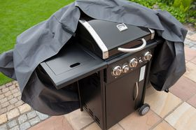 Nature Beschermhoes Barbecue Grijs H58x103x58cm