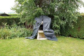 Nature Beschermhoes Betonnen Barbecue Grijs H253x128x80 cm