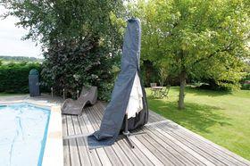Nature Beschermhoes Parasol Grijs H202xØ27/42cm