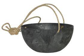 Artstone Hangpot Fiona Zwart ø 25cm H12