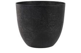 Artstone Bloempot Bola zwart D55 H45