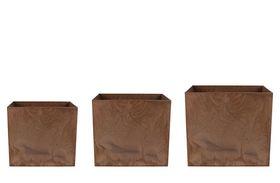 Artstone Bloempot set van 3 Maud oak