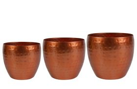 TS Bloempot set van 3 Kody shiny copper