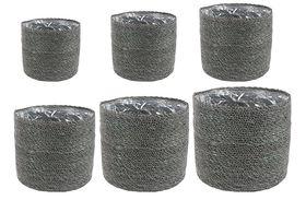 TS Bloempot set van 6 Stef grijs