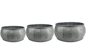 TS Bowl set van 3 Mikan metaal
