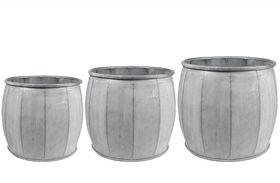 TS Pot set van 3 Mikan wit