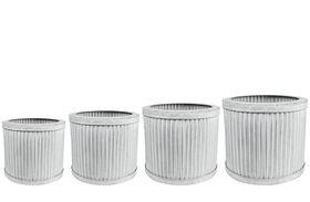 TS Pot set van 4 Mart wit