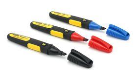 Stanley Fatmax 3 x Markeerstiften - Rood, Zwart en Blauw