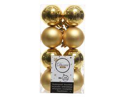 Decoris Kerstballen Goud Mat en Glanzend 4cm 16 Stuks