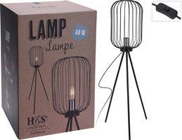 Staande Lamp Metaal Zilver Industriele Art Deco Lamp Groot