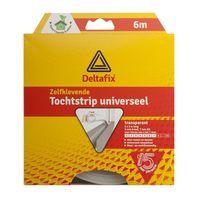 Deltafix Tochtstrip Universeel Transparant | 6m x 9mm x 7mm