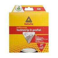 Deltafix Tochtstrip O-profiel EPDM Wit | 6m x 9mm x 6mm