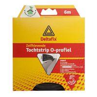 Deltafix Tochtstrip O-profiel EPDM Zwart | 6m x 9mm x 6mm