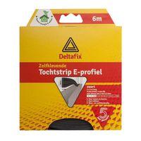 Deltafix Tochtstrip E-profiel EPDM Zwart | 6m x 9mm x 4mm