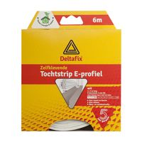 Deltafix Tochtstrip E-profiel EPDM Wit | 6m x 9mm x 4mm