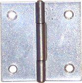 Smalscharnier / 25x22 mm / vaste messing pen / staal verzinkt