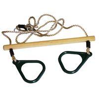 Trapeze Hout / Kunststof Ringen | Kinder Buitenspeelgoed | 165 cm