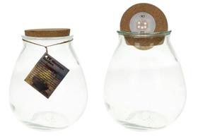 Dijk Natural Collections | Glazen Pot Met Led Lampjes