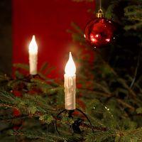 Konstsmide Kerstverlichting Boomkaarsensnoer Frost Druipkaarsen 20 Lampjes | Binnen