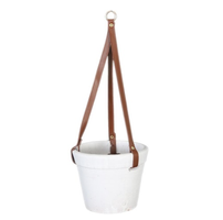 Dijk Natural Collections | Hangende Pot Terracotta Wit