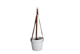 Dijk Natural Collections | Hangende Pot Terracotta Wit M