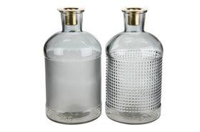 Flessen met kaarsenhouder glas Ø10.3x20.5cm