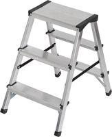Brennenstuhl Dubbele Trapladder Aluminium 2x3 Zilver | Keukentrap | Schilderstrap