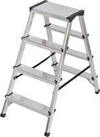 Brennenstuhl Dubbele Trapladder Aluminium 2x4 Zilver | Keukentrap | Schilderstrap