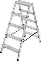 Brennenstuhl Dubbele trapladder aluminium 2x5 Zilver | Keukentrap | Schilderstrap