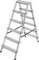 Brennenstuhl Dubbele trapladder aluminium 2x6 Zilver | Keukentrap | Schilderstrap